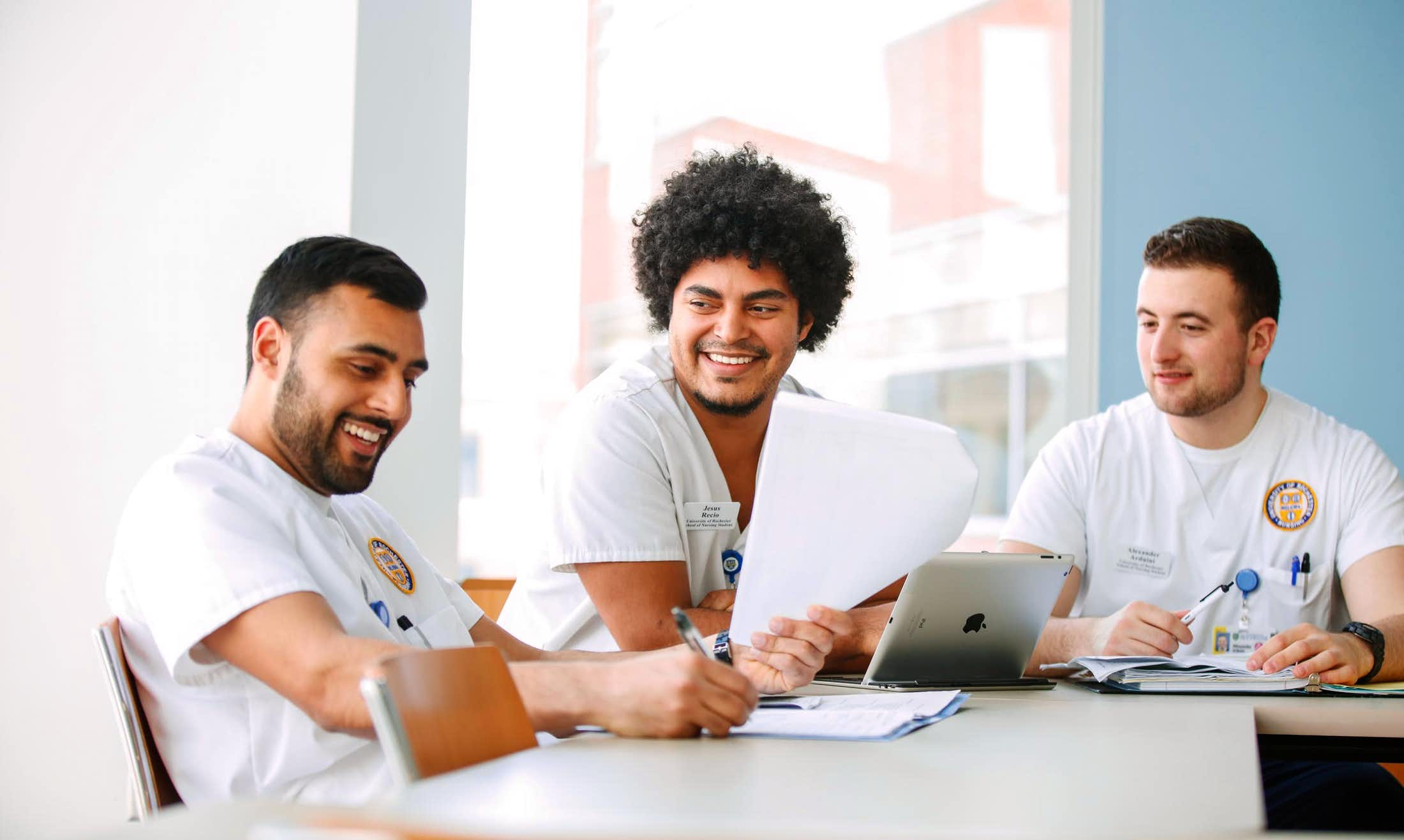 students learning on laptop