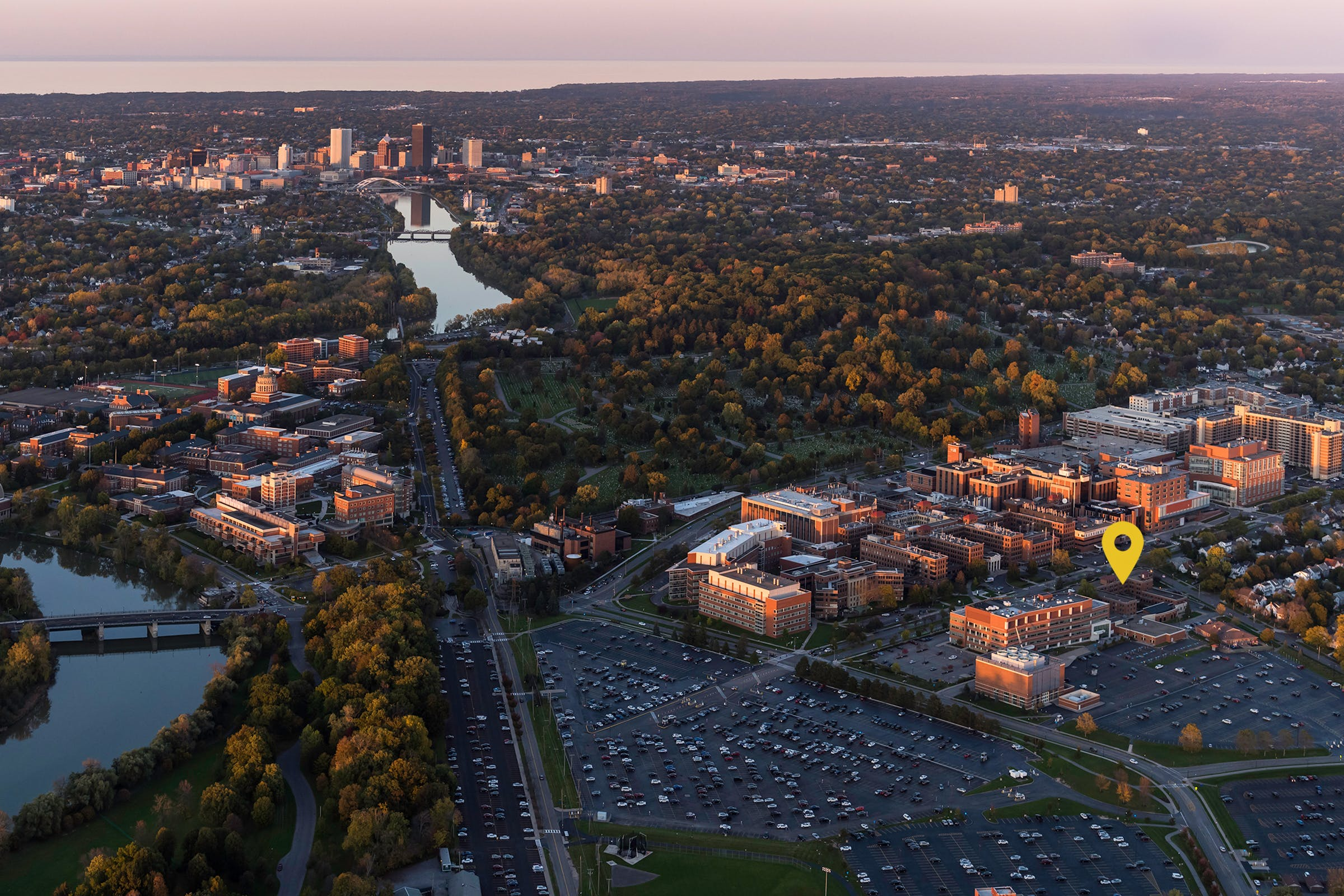 Aerial view University